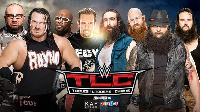 The Dudley Boyz, Tommy Dreamer & Rhyno vs. The Wyatt Family (8-Man Elimination Tables Match)