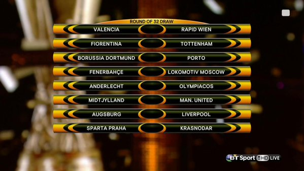 Sorteo Europa League 1