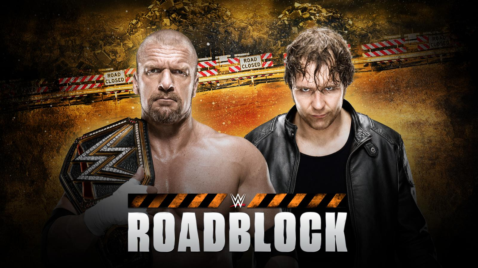 WWE World Heavyweight Champion Triple H battles Dean Ambrose