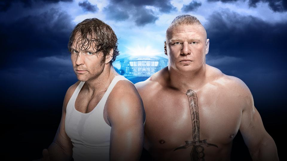 Dean Ambrose vs. Brock Lesnar (No Holds Barred Street Fight)