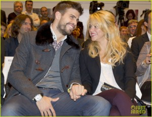Shakira and Gerard at a book release
