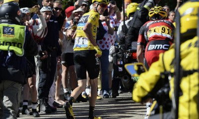 Froome asciende corriendo Tour 2016