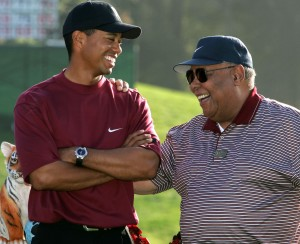 tiger-woods-jokes-with-his-father-earl-woods-after-winning-the-sixth-annual-target-world-challenge-golf