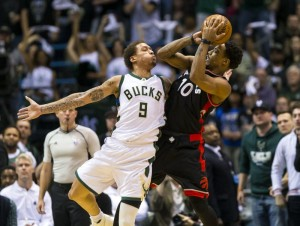 NBA: Playoffs-Toronto Raptors at Milwaukee Bucks