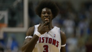 AUBURN HILLS, MI - JUNE 1:  Portrait of Ben Wallace #3 of the Detroit Pistons in Game six of the Eastern Conference Finals during the 2004 NBA Playoffs against the Indiana Pacers at The Palace of Auburn Hills on June 1, 2004 in Auburn Hills, Michigan.  The Pistons won 69-65 and won the series 4-2.  NOTE TO USER: User expressly acknowledges and agrees that, by downloading and/or using this Photograph, user is consenting to the terms and conditions of the Getty Images License Agreement. (Photo by Ezra Shaw/Getty Images)