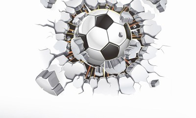 Creative-Home-Decor-3D-Break-Wall-Style-Football-Pattern-Wall-Stickers-For-Children-Room-40-50