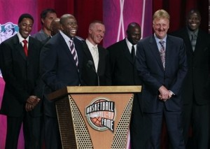 Scottie Pippen, Magic Johnson, Chris Mullin, Michael Jordan, Larry Bird, Patrick Ewing