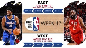 Player of the week 17